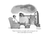 """""""Expect tweetstorms overnight, with a twenty-per-cent chance of apocalypse..."""" - New Yorker Cartoo Premium Giclee Print by Pat Byrnes"""