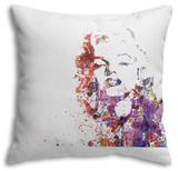 Marilyn Monroe Pillow Throw Pillow by  NaxArt
