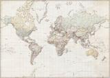 Weltkarte - Deutsch Prints
