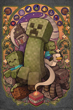Minecraft - Creeper Nouveau Stampe
