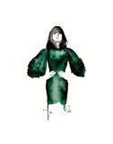 The Emerald Green Dress Affiches par Jessica Durrant