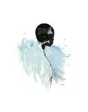 Icy Blue Feathers Posters by Jessica Durrant