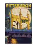 Pittsburgh - Smithfield Street Bridge Prints by  Lantern Press