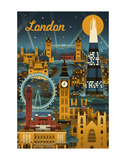 London Print by  Lantern Press