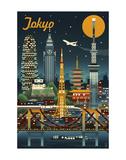 Tokyo Poster by  Lantern Press