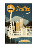 Seattle Prints by  Lantern Press