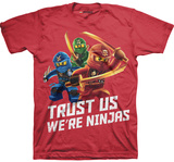 Juvenile: Lego Ninjago - Trust Us We're Ninjas T-shirts