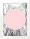 Geometric Pink Grey Prints by  LILA X LOLA