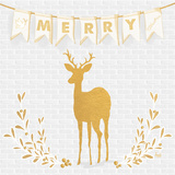 Gold Reindeer II Prints by Andi Metz