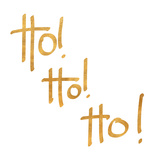 Ho! Ho! Ho! (gold foil) Print by  SD Graphics Studio