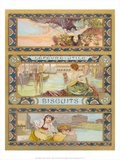 Label for a Biscuit-Tin, c 1890's Posters by Alphonse Mucha
