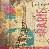 Paris Stamp Posters by  SD Graphics Studio