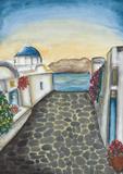 Santorini Prints by Amaya Bucheli