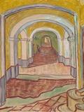 Corridor in Saint-Paul Hospital, 1889 Art by Vincent Gogh