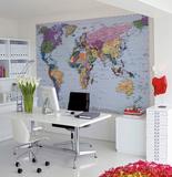 Weltkarte Wandgemälde