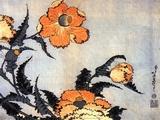 Poppies, late 1820's Print by Hokusai Hokusai