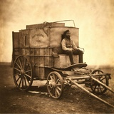 Marcus Sparling, Lull-Length Portrait, Seated on Roger Fenton's Photographic Wagon, 1855 Posters by Roger Fenton