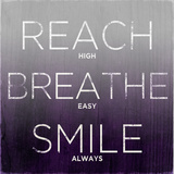 Reach, Breathe, Smile (purple) Print by  SD Graphics Studio