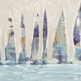 Muted Sail Boats Square II Poster by Dan Meneely