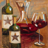 Star Wine Square I Prints by Heather A. French-Roussia