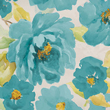 Teal Floral Delicate II Poster by Lanie Loreth