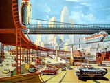 Traffic of The Future, 1959 Posters by Klaus Bu?rgle