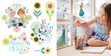 Frozen Flower Stickers pour fenêtres