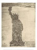 Human Statue of Liberty. 18,000 Officers and Men at Camp Dodge, Des Moines, Ia. Posters by Mole Thomas