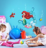 The Little Meramid - Ariel Autocollant mural