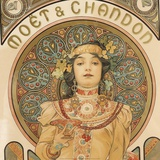 Detail from Moet & Chandon, 1897 Prints by Alphonse Mucha