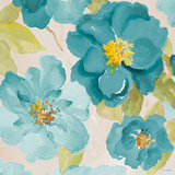 Teal Floral Delicate I Prints by Lanie Loreth