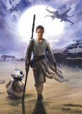 Star Wars - Rey Carta da parati decorativa