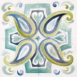 Contemporary Tiles with Paisley Art by Patricia Pinto