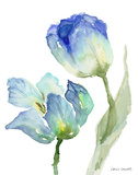 Teal and Lavender Tulips I Prints by Lanie Loreth