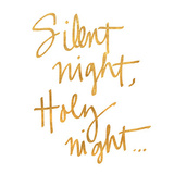 Silent Night (gold foil) Posters by  SD Graphics Studio
