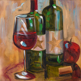Star Wine Square II Poster by Heather A. French-Roussia