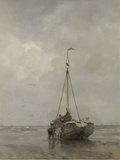 Bluff-bowed Fishing Boat on the Beach at Scheveningen, 1885 Posters by Jacob Maris