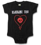 Infant: Alkaline Trio - ALK3 Heart Skull Onesie Rompertje