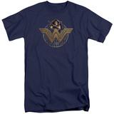 Wonder Woman Movie - Power Stance and Emblem (Big & Tall) T-Shirt