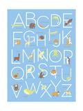 Illustrated Animal Alphabet ABC Poster Design Prints by  TeddyandMia