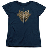 Womens: Wonder Woman Movie - Sword Emblem T-Shirt