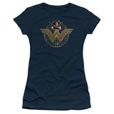 Juniors: Wonder Woman Movie - Power Stance and Emblem T-Shirt