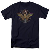 Wonder Woman Movie - Power Stance and Emblem T-Shirt