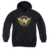 Youth Hoodie: Wonder Woman Movie - Lasso Logo Pullover Hoodie