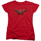 Womens: Wonder Woman Movie - Logo T-Shirt