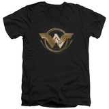 Wonder Woman Movie - Lasso Logo V-Neck T-Shirt