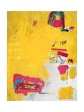 Pink Elephant with Fire Engine, 1984 Reproduction procédé giclée par Jean-Michel Basquiat