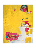 Pink Elephant with Fire Engine, 1984 Giclee Print by Jean-Michel Basquiat
