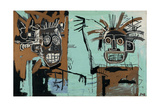 Untitled (Two Heads on Gold) 1982 Gicléetryck av Jean-Michel Basquiat