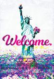Willkommen – Ananas mit Vers Poster